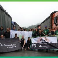 Het Animals Asia team in Nanning